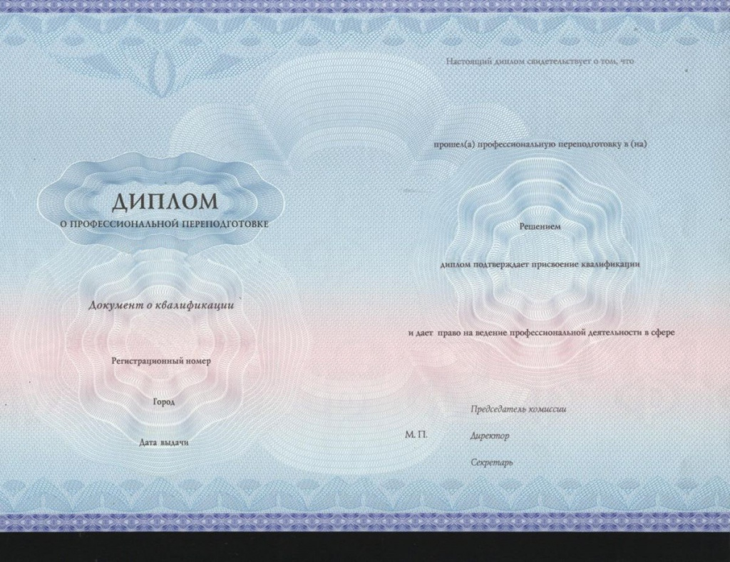 Слушателю  диплом о профессиональной переподготовке с присвоением квалификации